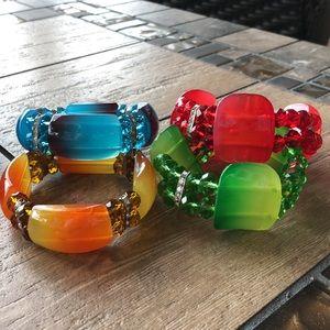 Chunky Bead & Crystal Bracelet Bundle